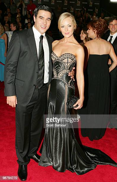 TV personality Jessica Marais and James Stewart arrives at the 52nd TV Week Logie Awards at Crown Casino on May 2 2010 in Melbourne Australia