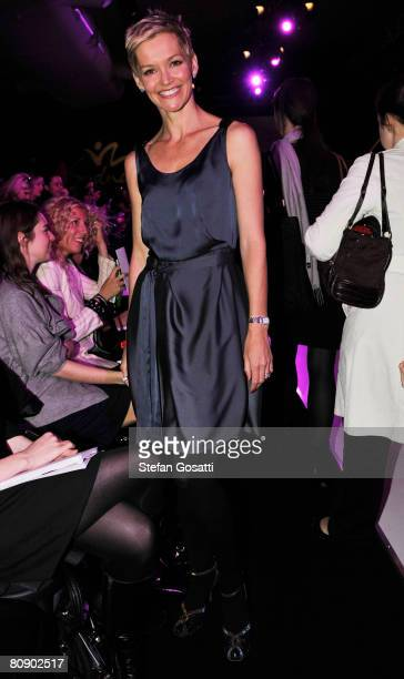 Personality Jessica Rowe attends the Lisa Ho catwalk show during the second day of the Rosemount Australian Fashion Week Spring/Summer 2008/09...