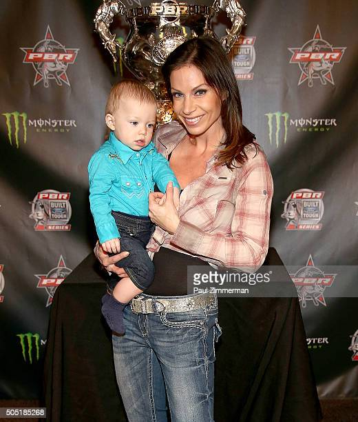 TV personality Jill Nicolini attends 2016 Professional Bull Riders Denim Diamonds Party at Madison Square Garden on January 15 2016 in New York City
