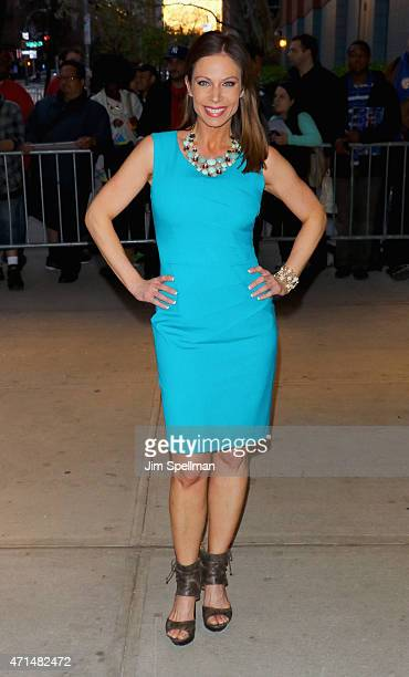 Personality Jill Nicolini attends The Cinema Society Audi host a screening of Marvel's Avengers Age of Ultron at the SVA Theater on April 28 2015 in...
