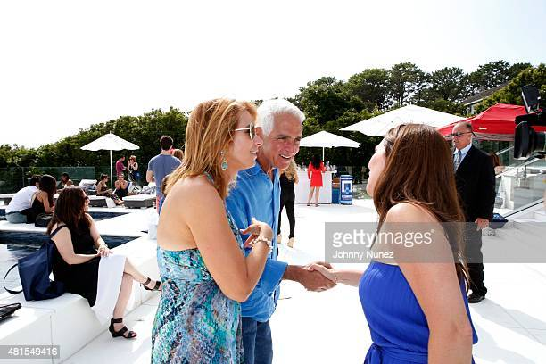 TV personality Jill Zarin and Former Governor of Florida Charlie Crist attend Jill And Bobby Zarin's 2015 Luxury Luncheon on July 18 in Southampton...