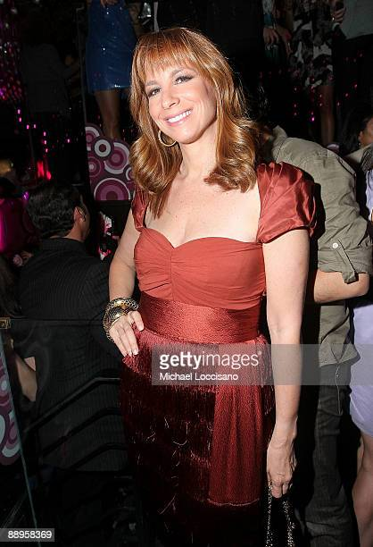 TV personality Jill Zarin attends the ThreeO Vodka Bubble launch at Greenhouse on July 9 2009 in New York City