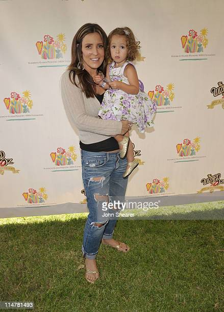 Personality Jillian Barberie attends the A Time for Heroes Celebrity Carnival Sponsored by Disney, benefiting the Elizabeth Glaser Pediatric AIDS...