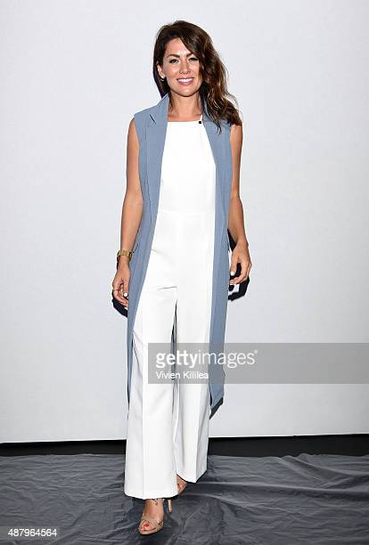 TV personality Jillian Harris attends Son Jung Wan Spring 2016 during New York Fashion Week The Shows at The Dock Skylight at Moynihan Station on...