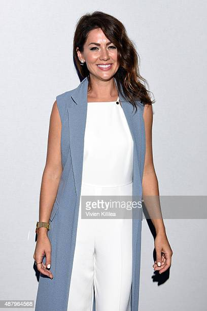 Personality Jillian Harris attends Son Jung Wan Spring 2016 during New York Fashion Week: The Shows at The Dock, Skylight at Moynihan Station on...