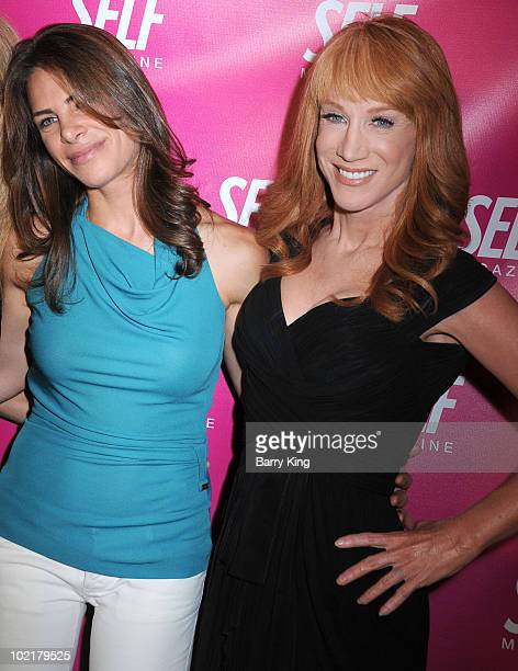 TV personality Jillian Michaels and Comic/TV personality Kathy Griffin arrive at the SELF Magazine Celebration of the July 2009 LA Issue held at...