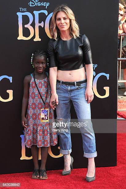 TV personality Jillian Michaels and Lukensia Michaels Rhoades attend the premiere of Disney's' 'The BFG' at the El Capitan Theatre on June 21 2016 in...