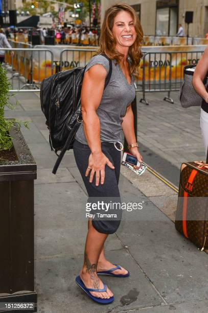 TV personality Jillian Michaels leaves the 'Today Show' taping at the NBC Rockefeller Center Studios on September 4 2012 in New York City