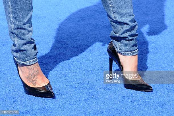 TV personality Jillian Michaels shoe detail attend the premiere of Warner Bros Pictures' 'Storks' at Regency Village Theatre on September 17 2016 in...