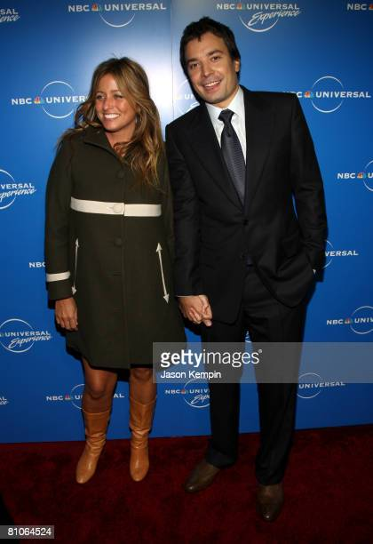 TV personality Jimmy Fallon and Nancy Juvonen attend the NBC Universal Experience at Rockefeller Center on May 12 2008 in New York City