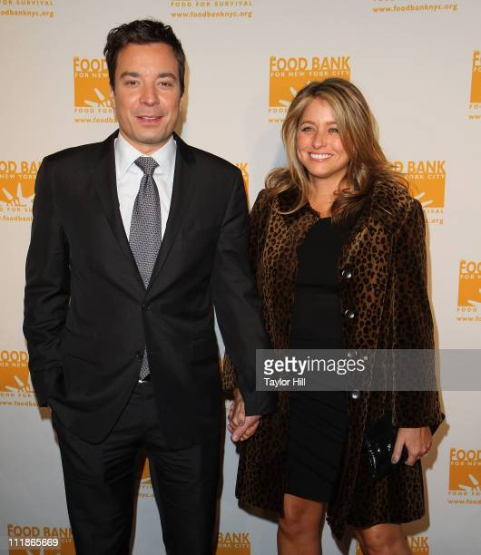 TV personality Jimmy Fallon and wife Nancy Fallon attend the 2011 CanDo Awards Dinner at Pier Sixty at Chelsea Piers on April 7 2011 in New York City