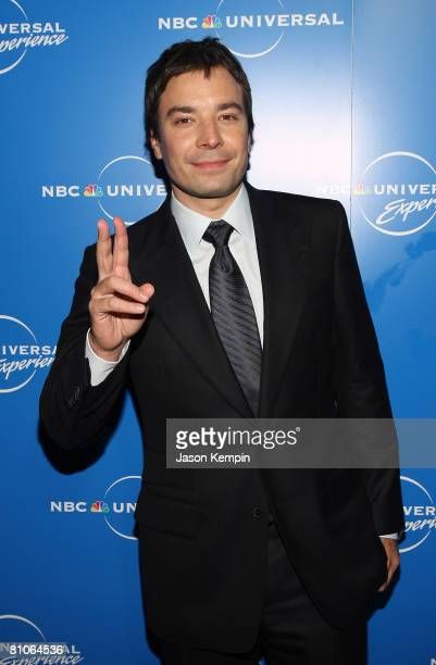 TV personality Jimmy Fallon attends the NBC Universal Experience at Rockefeller Center on May 12 2008 in New York City