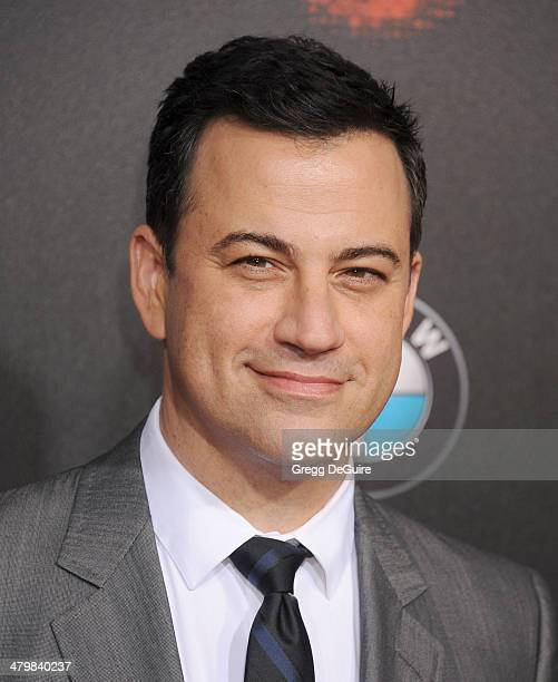 TV personality Jimmy Kimmel arrives at the 2nd Annual Rebel With A Cause Gala at Paramount Studios on March 20 2014 in Hollywood California