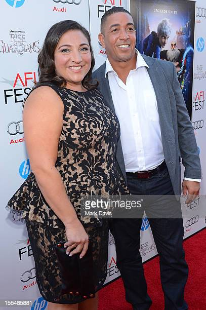 TV personality Jo Frost and Darrin Jackson arrive at the gala screening of Rise of the Guardians during the 2012 AFI Fest presented by Audi at...