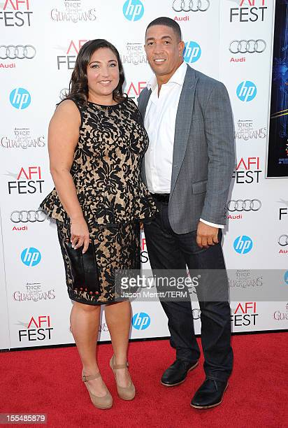 "Personality Jo Frost and Darrin Jackson arrive at the premiere of ""Rise of the Guardians"" during the 2012 AFI Fest presented by Audi at Grauman's..."