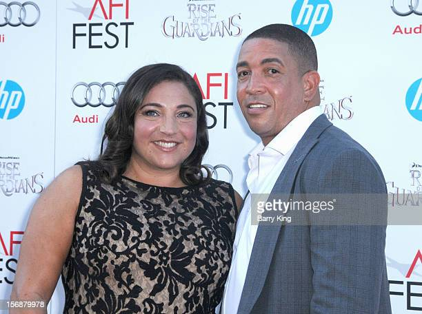TV personality Jo Frost and Darrin Jackson arrives at the 2012 AFI FEST Rise Of The Guardians premiere held at Grauman's Chinese Theatre on November...