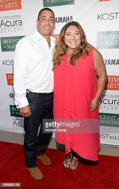 TV personality Jo Frost and Darrin Jackson attend the Festival of Arts Celebrity Benefit Concert and Pageant on August 27 2016 in Laguna Beach...