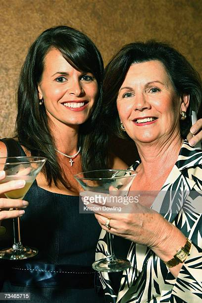 Personality Jo Silvagni and mother Fran Bailey attend the David Jones Autumn/Winter Collection launch show at Melbourrne Town Hall on March 1 2007 in...