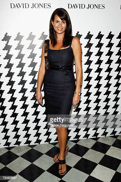 Personality Jo Silvagni arrives at the David Jones Autumn/Winter Collection launch show at Melbourrne Town Hall on March 1 2007 in Melbourne...