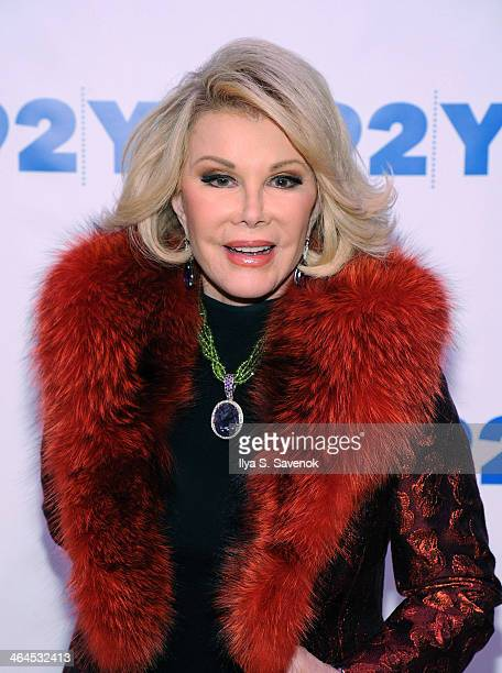 TV personality Joan Rivers attends An Evening With Joan And Melissa Rivers at 92nd Street Y on January 22 2014 in New York City