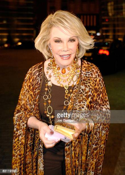 TV personality Joan Rivers attends Howard Stern's and Beth Ostrosky 's wedding at Le Cirque on October 3 2008 in New York City
