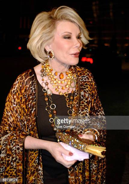Personality Joan Rivers attends Howard Stern's and Beth Ostrosky 's wedding at Le Cirque on October 3, 2008 in New York City.