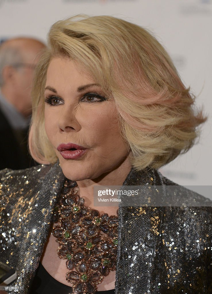 TV personality Joan Rivers attends the 12th Annual Heller Awards at The Beverly Hilton Hotel on September 19, 2013 in Beverly Hills, California.