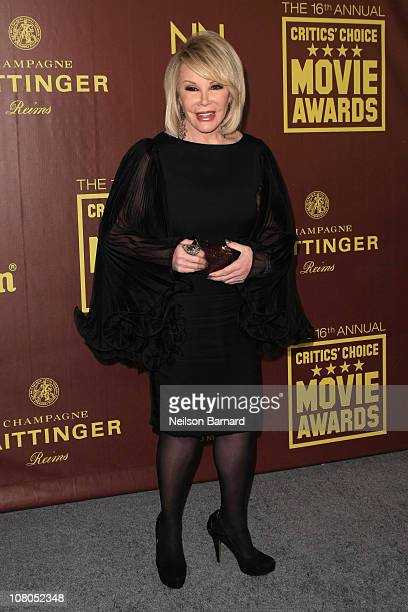 TV personality Joan Rivers attends the Critics' Choice Movie Awards Official After Party at Siren Studios on January 14 2011 in Hollywood California