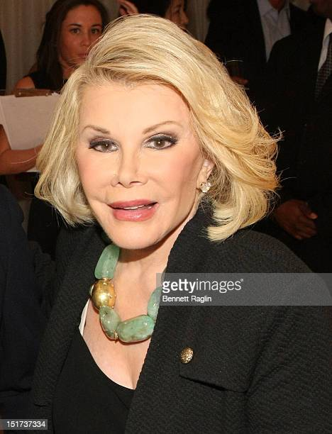 Personality Joan Rivers attends the Elie Tahari presentation during Spring 2013 Mercedes-Benz Fashion Week on September 10, 2012 in New York City.