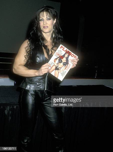 TV Personality Joanie Laurer Promotes Her Playboy Magazine November 2000 Cover on September 28 2000 at The World Economic Forum in New York City