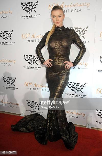 TV personality Joanna Krupa arrives at The Humane Society Of The United States 60th anniversary benefit gala at The Beverly Hilton Hotel on March 29...