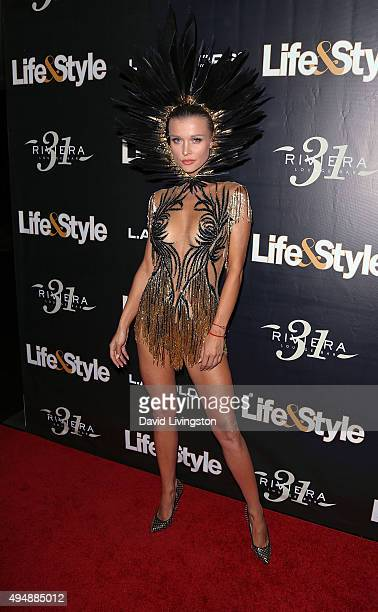 TV personality Joanna Krupa attends Life Style Weekly's 'Eye Candy' Halloween Bash hosted by LeAnn Rimes at Riviera 31 at Sofitel on October 29 2015...