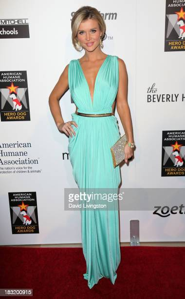 TV personality Joanna Krupa attends the 3rd Annual American Humane Association Hero Dog Awards at The Beverly Hilton Hotel on October 5 2013 in...