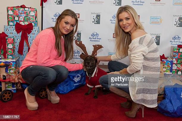 Personality Joanna Krupa sister Marta Krupa and Teddy Dog attend Kids Helping Kids A Celebrity Holiday StuffAThon Benefiting My Stuff Bags Foundation...