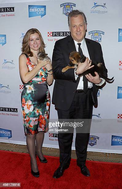 TV personality Jodi Applegate and sports announcer Michael Kay attend the 2015 North Shore Animal League America Gala at The Pierre Hotel on November...