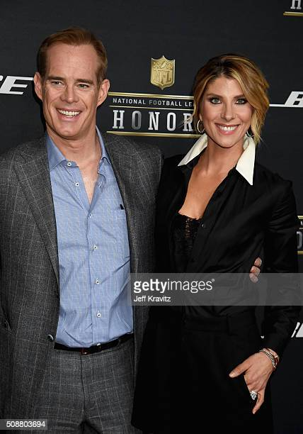 TV personality Joe Buck and Michelle Beisner attend the 5th Annual NFL Honors at Bill Graham Civic Auditorium on February 6 2016 in San Francisco...