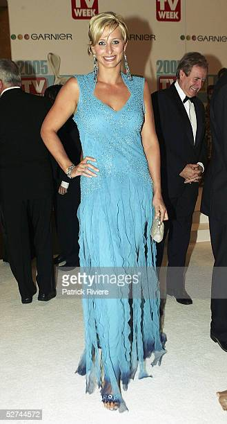 TV personality Johanna Griggs arrives at the 47th Annual TV Week Logie Awards at the Crown Entertainment Complex May 1 2005 in Melbourne Australia