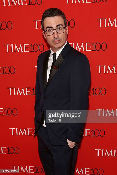 Personality John Oliver attends the 2015 Time 100 Gala at Frederick P. Rose Hall, Jazz at Lincoln Center on April 21, 2015 in New York City.