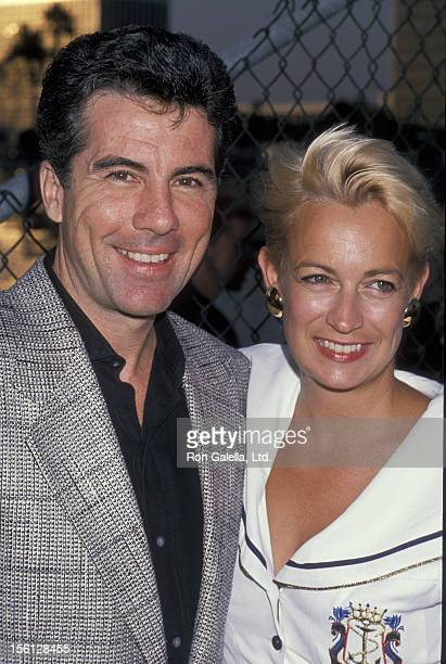 TV Personality John Walsh and wife Reve Drew attending 'FOX TV Affiliates Party' on July 11 1989 in Marina Del Rey California