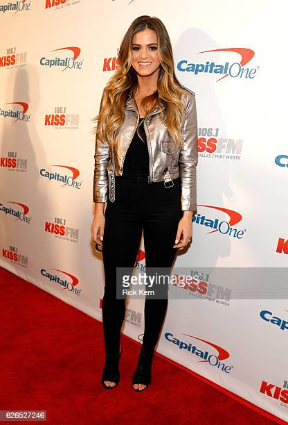 TV personality JoJo Fletcher attends 1061 KISS FM's Jingle Ball 2016 presented by Capital One at American Airlines Center on November 29 2016 in...