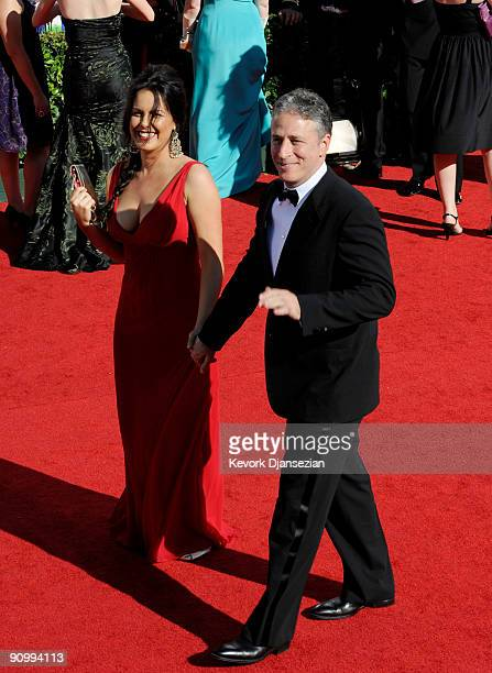 TV personality Jon Stewart and wife Tracy McShane arrive at the 61st Primetime Emmy Awards held at the Nokia Theatre on September 20 2009 in Los...