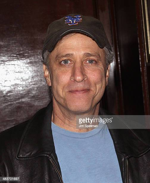 Personality Jon Stewart attends the Lionsgate Roadside Attractions with The Cinema Society premiere of Joe after party at Chalk Point Kitchen on...