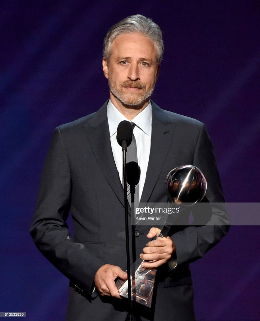 TV personality Jon Stewart speaks onstage at The 2017 ESPYS at Microsoft Theater on July 12, 2017 in Los Angeles, California.