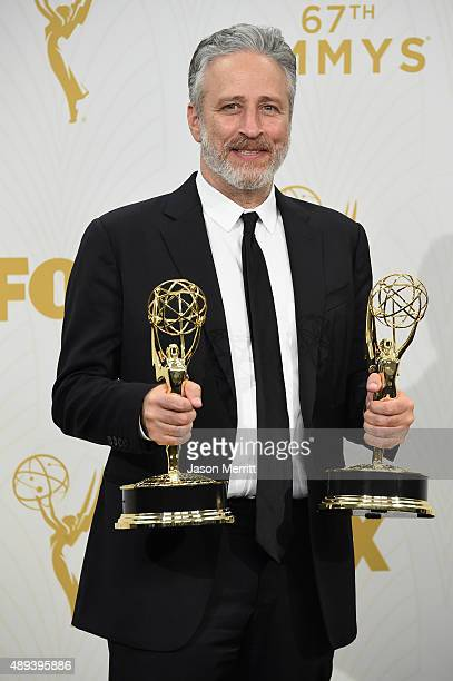 TV personality Jon Stewart winner of Outstanding Variety Talk Series and Outstanding Writing for a Variety Series for The Daily Show with Jon Stewart...