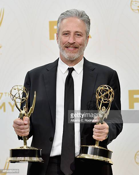 TV personality Jon Stewart winner of Outstanding Variety Talk Series and Outstanding Writing for a Variety Series for 'The Daily Show with Jon...