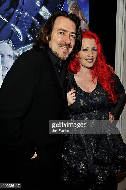 TV personality Jonathan Ross and filmmaker Jane Goldman attends The Jameson Empire Awards 2011 at The Grosvenor House Hotel on March 27 2011 in...