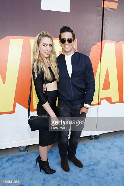 TV personality Jordan Wiseley attends The 2015 MTV Movie Awards at Nokia Theatre LA Live on April 12 2015 in Los Angeles California