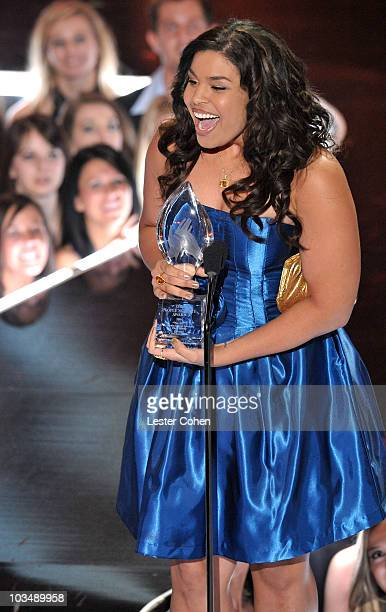 TV Personality Jordin Sparks onstage at the 35th Annual People's Choice Awards held at the Shrine Auditorium on January 7 2009 in Los Angeles...