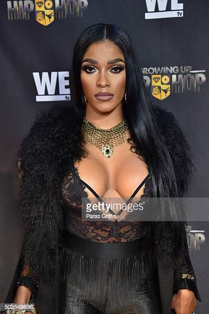 TV personality Joseline Hernandez attends 'Growing Up Hip Hop' Atlanta premiere at SCADshow on January 5 2016 in Atlanta Georgia