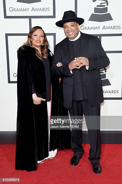 TV personality Joseph 'Rev Run' Simmons and Justine Simmons attend The 58th GRAMMY Awards at Staples Center on February 15 2016 in Los Angeles...